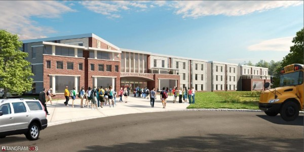 This is a rendering of what a renovated Wells High School would look like. Voters in Wells and Ogunquit are set to decide on the $26.85 million bond needed for renovations at the polls Nov. 5.