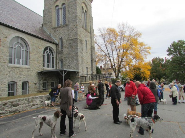 Dozens of pets and their owners gathered at Sacred Heart Church in Yarmouth on Saturday, Oct. 5, for the annual blessing of the animals.