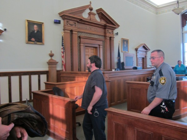 Andrew Kierstead is led out of the Knox County Superior Courtroom on Tuesday morning following a hearing to determine whether his confessions can be used at the trial scheduled for next month.