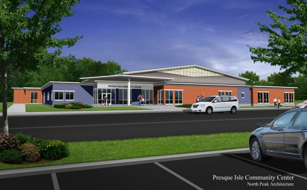 A rendering of the Presque Isle community center.