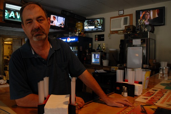 Shooters pool hall and restaurant owner Dave Guthrie talks about the burglaries in the Lincoln Lakes region on Oct. 16.