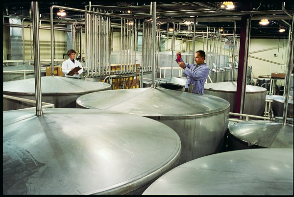 Beam Inc., the maker of Jim Beam bourbon, has sold its Lewiston bottling plant to Sazerac Co. In this 2011 file photo, employees work at the facility.