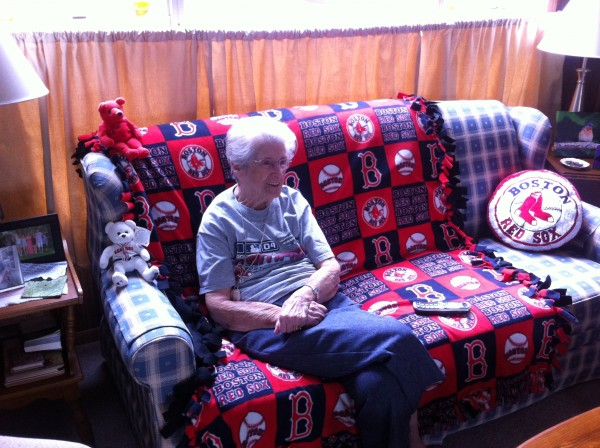 Longtime Red Sox fan Ginny Tardiff, 99, watched with delight Wednesday evening as her team won their first World Series in Boston since 1918.