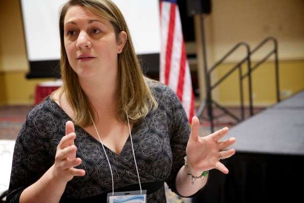 At a conference about women and prison in Portland Tuesday, Amanda Woolford, director of female services with the Maine Department of Corrections, said many incarcerated women have histories of being abused.