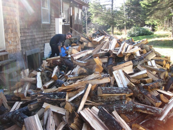 Riches are often in the eyes of the beholder. Few things say &quotwealth&quot on Rusty Metal Farm than a big pile of firewood destined for the winter wood stove.