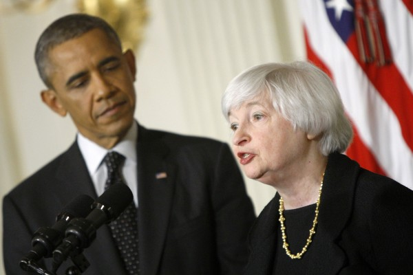 U.S. President Barack Obama looks on after announcing his nomination of Janet Yellen to head the Federal Reserve at the White House in Washington October 9, 2013.