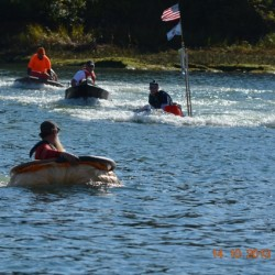 Pumpkin chunkin draws a crowd to Damariscotta