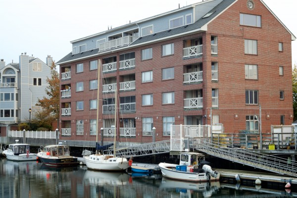 Boats sit tied up at Chandlers Wharf in Portland Wednesday off Commercial Street. Nearly $33 million in damage will be done to buildings along Portland's low-lying -- and high-traffic -- Commercial Street area by 2050 because of steady sea level rise, a city architects group announced Tuesday.