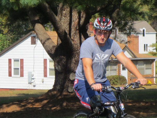 Rob Jones is a veteran who began a bike ride on Monday that will take him from Bar Harbor to San Diego.