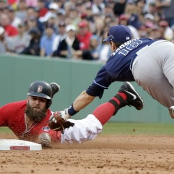 Lester, Drew propel Red Sox past Rays; Tampa's Price injured