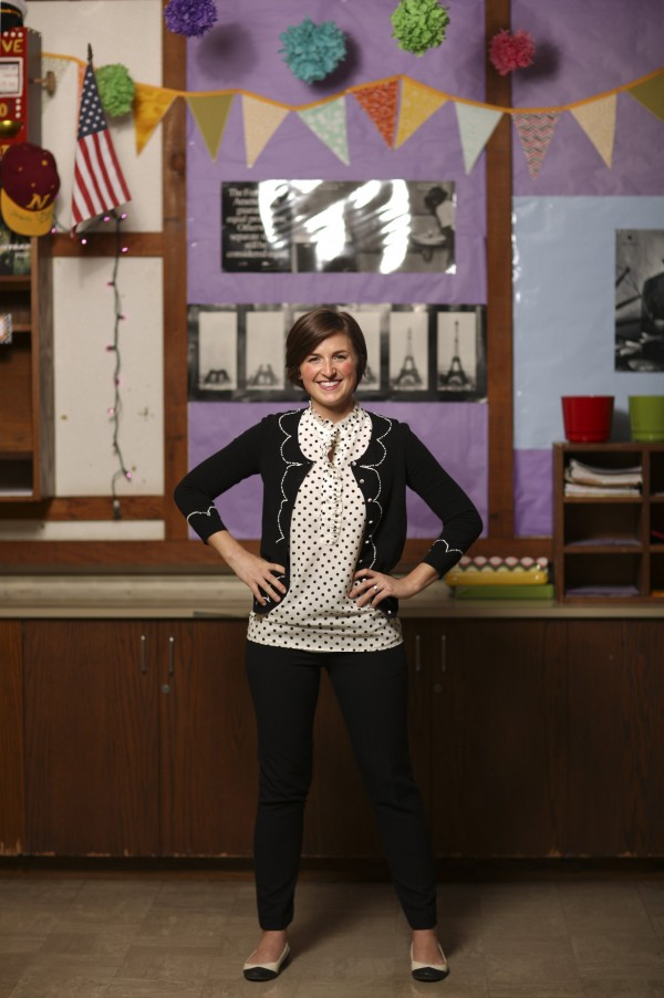 Fashion doesn't make the teacher, but it can help earn respect from students. But dressing in style while maintaining classroom authority can be tricky. Here, Mary Robia poses for portrait in her classroom after school, Sept. 25, 2013, at Northfield High School in Northfield, Minnesota.