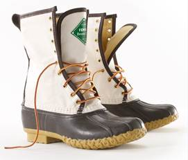L.L. Bean limited edition Fenway Bean Boot.