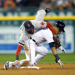 Boston's Bailey falters again, Tigers rally in 9th