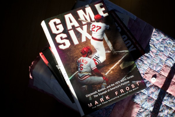 Lisbon Red Sox fan Ginny Tardiff, 99, has several books about the Red Sox next to her rocking chair.