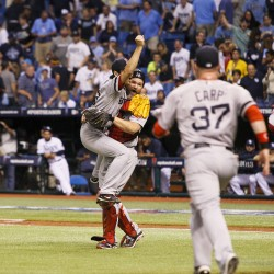 Carp's 10th-inning slam keeps Red Sox rolling