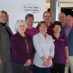 Members for the Calais Schoodic Sculpture Committee and the St Croix Valley Chamber of Commerce were on hand for the receipt of Sculpture Committee's first $1000 donation from the Chamber of Commerce.