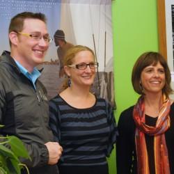 (l to r) Tobin Slaven, Sarah Newcomb, Jennifer Hooper