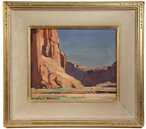 'Canyon de Chelly', western scene oil painting by Edgar Alwin Payne (CA, 1883-1947), a featured item at Thomaston Place Auction Galleries Fall Fine Art & Antiques Auction on Nov. 9 & 10