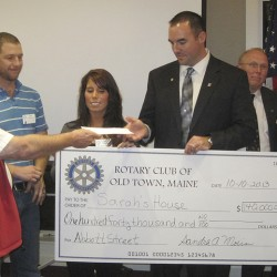 Old Town Rotary donates $140,000 to Sarah's House of Maine