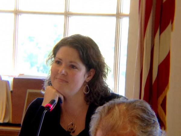 State Sen. Emily Cain, D-Orono, listens during a meeting of the Legislature's Appropriations Committee Wednesday.