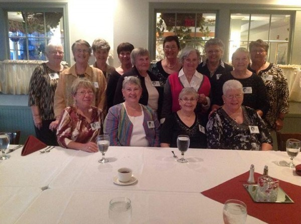 Attending the 50th reunion of the Eastern Maine General Hospital School of Nursing Class of 1963 on Sept. 20-21, 2013, in Brewer and Bangor were (from left, seated) Anne Mace Somers, Barbara Stoddard Goodeill, Pam Guernsey Auge, and Lucy Smith Webber; (from left, second row) Nancy Torrey Wright, Margaret Fahey Fowler, Sharon Fitzgerald Clark, and Connie Walker Hollis; and (from left, back row) Janice Jordon Byard, Roberta Bell Everett, Sylvia Debransky O'Connor, Margaret Brooks Payne, Sandra Hersey Kolbjornsen, and Phyllis Jordon.