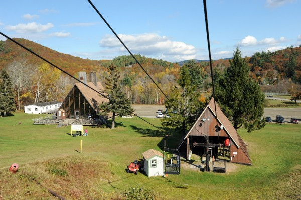 The ski lodge and chair lift as seen on Sunday at the Camden Snow Bowl. On Nov. 5 voters will decide if the town should borrow $2 million to allow for a package of major improvements to the town-owned recreation area.