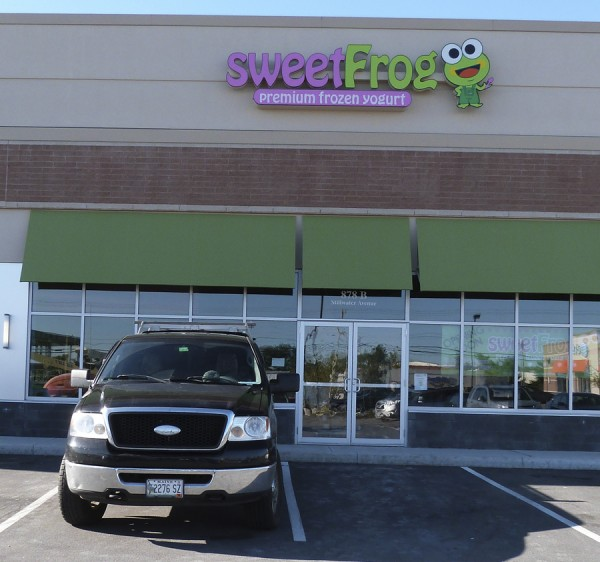 Doug and Alison Reed of Hermon own the new sweetFrog Premium Frozen Yogurt franchise that is opening next to Five Guys Burgers on Stillwater Avenue in Bangor.