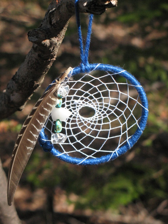 Tohi Dream Catcher (a Cherokee concept that means when we are in balance with all around us, that is health) Turquoise for peace, white bear for healing, clear quartz to potentiate all other stones.