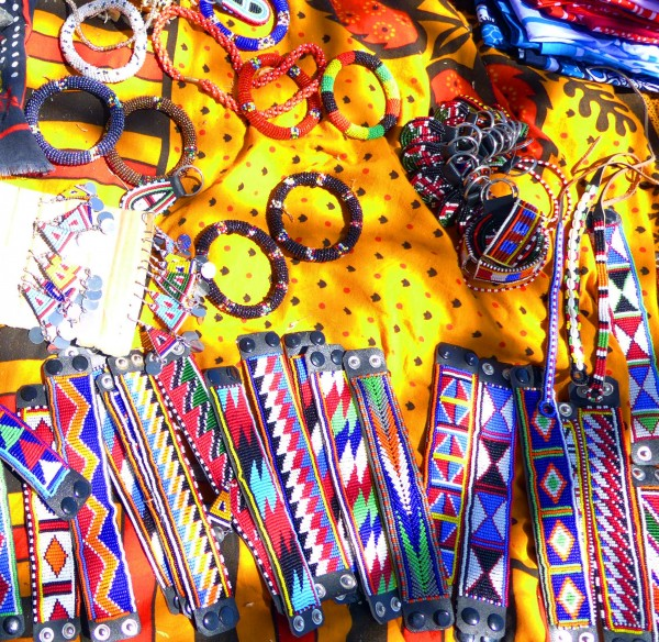 Crafts created by Masai grandmothers in the Nyumbani village in Kenya. Brunswick psychiatrist Lynn Ouellette volunteers in the village, where 100 grandparents raise 1,000 orphaned children living with HIV and AIDS.