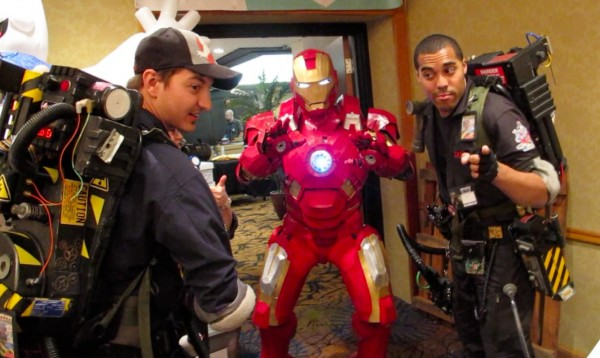 Two Ghostbusters and Iron Man pose at the third annual Coast City Comic Con, held Nov. 9-10 in South Portland.
