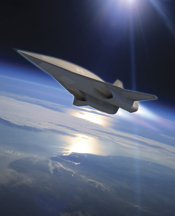 Lockheed Martin's planned SR-72 twin-engine jet aircraft is seen in this artist's rendering provided to Reuters November 1, 2013 by Lockheed Martin.
