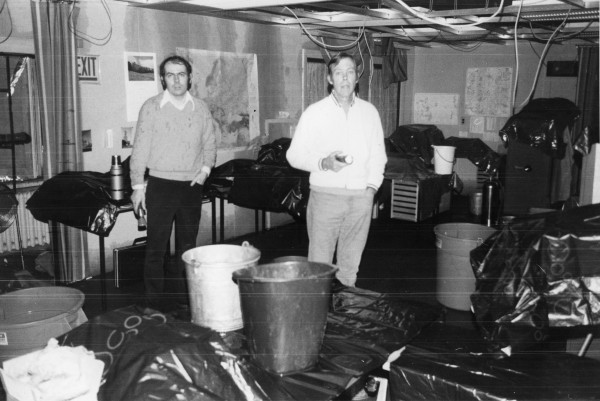 Gardner Hathaway, right, stands inside the CIA station at what was then the U.S. embassy in Moscow in 1977. Hathaway, the CIA's chief of counterintelligence whose four-decade career with the agency took him to Cold War focal points ranging from Berlin to Moscow and placed him at the center of many espionage episodes, died Nov. 20 at 88.