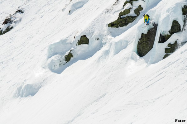 Portland attorney Ben Leoni drops off a cliff in Tuckerman Ravine of Mount Washington in 2011. Leoni is the star of the 2013 web series &quotWorking for the Weekend&quot produced by Meathead Films and Ski the East, which will premiere in early December.