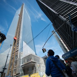 Spire hoisted atop New York's One World Trade Center