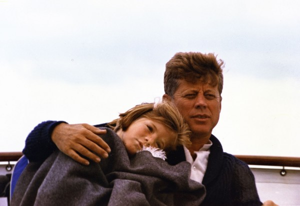 President John F. Kennedy and daughter Caroline Kennedy aboard a yacht Aug. 31, 1963 in Hyannis Port, Mass. The scene appears in &quotAmerican Experience: JFK,&quot a documentary airing on PBS.