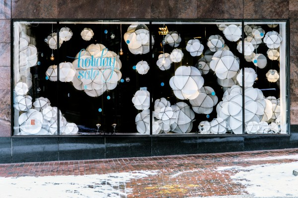 Maine College of Art student Cassie Amicone installed the wintry scene for First Friday Artwalk in Portland on Dec. 6th.