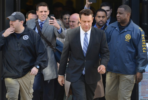 Rep. Trey Radel, R-Fla., leaves D.C. Superior Court after pleading guilty Wednesday to one count of misdemeanor drug possession.