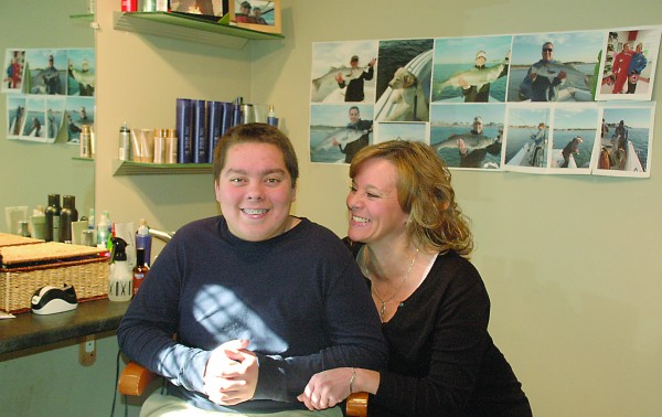 Seventeen-year-old Ethan Houle, pictured here with his mom Teresa, is in need of a kidney transplant and an upcoming fundraiser at The Nonantum Resort will help support the family's costs.