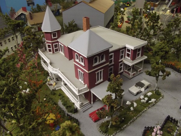 Many of the model buildings were copied from actual structures. This replica of Stephen King's home in Bangor was based on a photograph that King supplied.