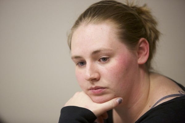 Danielle Ashley Ogden talks about the health of her daughter who suffered a gunshot wound to the neck last month at their Bald Mountain Drive residence in Bangor.