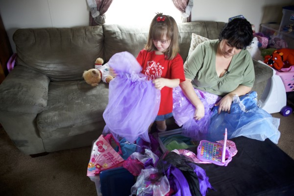 Haley Grant, 4, suffers from Ehlers-Danlos, which is a rare connective tissue disorder. Grant's mother Christine and her family will be leaving for Disney World on Sunday for a trip which was made possible by The Dream Factory, a children's wish granting organization.