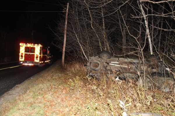 Colby Miles, 23, of Thomaston, was listed in serious condition at Eastern Maine Medical Center Sunday after rolling his pickup truck on Old County Road in Thomaston Saturday night. Rockland police said Miles reported swerving to avoid a deer.