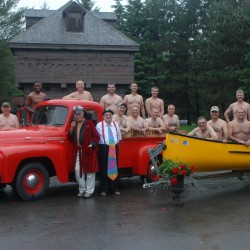 The Fort Kent Lions have produced a two-year calendar featuring 24 Lions posing in various stages of tasteful undress. The club hopes to raise $70,000 to support LifeFlight of Maine, the Edgar J. Paradis Cancer Fund and the University of Maine at Fort Kent.