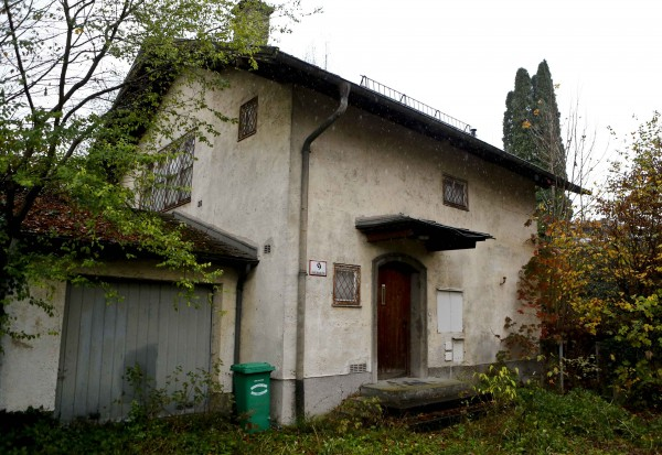 The house of art collector Cornelius Gurlitt is pictured in Salzburg.