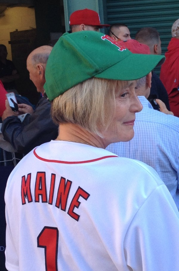 Julia Colpitts is executive director of the Maine Coalition To End Domestic Violence. She threw out the ceremonial first pitch at a Red Sox-Orioles game in Fenway Park in September 2013, with other New England Domestic Violence Coalition directors.
