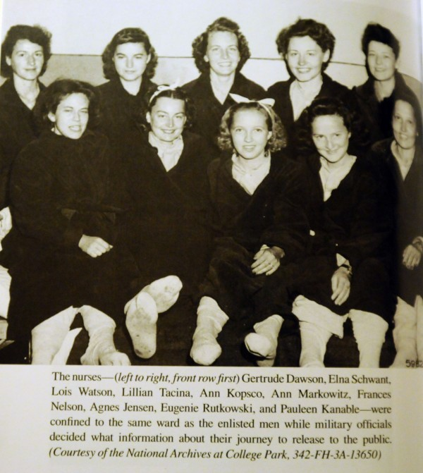 Some of the nurses that survived a plane crash along with Denis Cranson's father, Robert, in 1943 in the mountains of Albania behind Nazi lines during World War II.