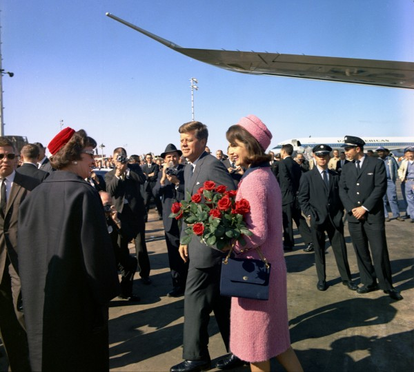 President John Kennedy and first lady Jacqueline Kennedy arrive at Love Field in Dallas in November 1963 in this picture taken by White House photographer Cecil Stoughton.