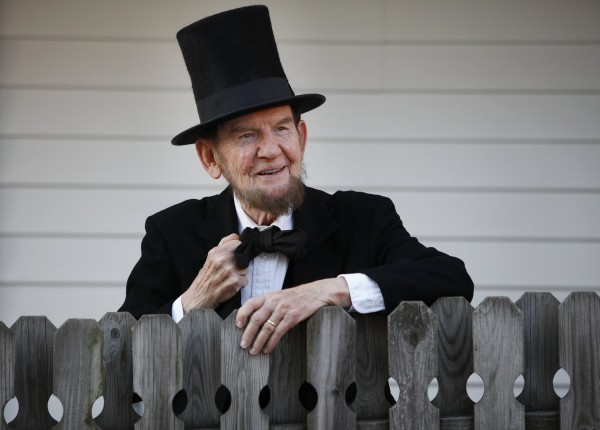 Jim Getty of Gettysburg, Pa., portrays President Abraham Lincoln, and will once again deliver the Gettysburg Address in Gettysburg on the 150th anniversary of the celebrated speech.