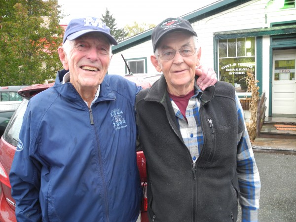 Lobstermen Al McNeilly, 92, and Roy Rogers, 76, traded war stories this week at the Owls Head General Store. The two veterans talked about what the upcoming holiday means to them.