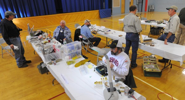 The Penobscot Fly Fishers Fly Tying Expo held at the Brewer Auditorium Sunday.